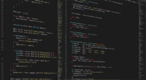 Software Engineer - Code on screen